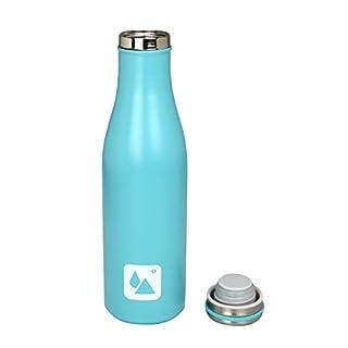 ARD 'Time Du-lifegm-bl Isolierflasche Design doppelwandig Edelstahl Blau 6,5x 6,5x 23,5cm