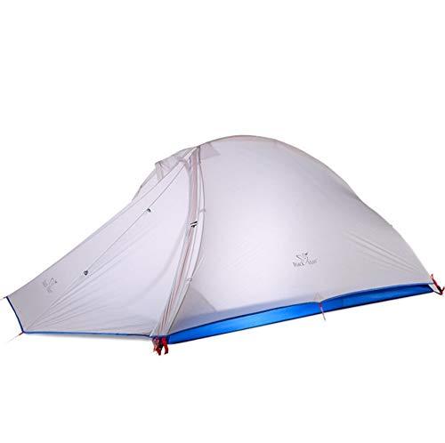dylisy Outdoor Camping Leichtes 2 Personen Doppel Outdoor Aluminium Stange Anti-Sturm Zelt 215 x (128 + 95) x 105Cm