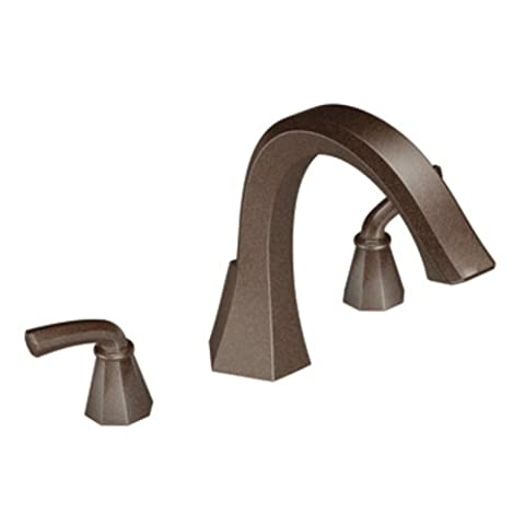 Moen TS243ORB Felicity Two-Handle High Arc Roman Tub Faucet, Oil Rubbed Bronze by Moen