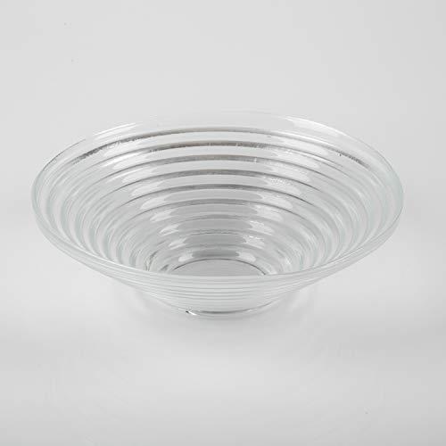 INNA Glas - Coupe rainurée en verre SELMA, DELUXE, transparent, Ø 23 cm - Coupelle pot pourri / Coupelle ronde