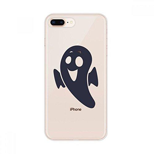 DIYthinker Halloween Emaciated Kleiner Teufel Apple iPhone 7/8 Plus-Telefon-Kasten Flexible Soft Slim Transparent Abdeckung iPhone 7/8 Plus Argument