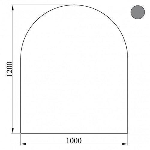 KAMINO FLAM Bodenplatte 555255 grau, hitzebeständige Hitzeschutzplatte, einbrennlackierte Bodenschutzplatte aus lackiertem Stahlblech, die Schutzfläche ist sehr dünn und stellt keine Stolperfalle dar, die Plattenmaße betragen ca. 120 x 100 x 0,2cm