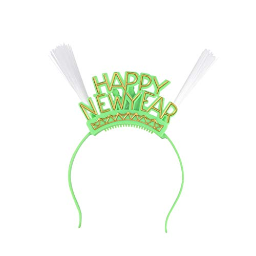 Mädchen Kostüm Clevere - Holibanna Guten Rutsch ins Neue Jahr führte blinkende Plastikperücke des leuchtenden Rohres des optischen Faserstirnbandes Bunte Headwear Partei-Nacht heraus Haarzusätze