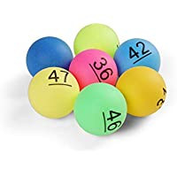 Komonee Numbered Ping Pong Table Tennis Balls 40mm with Numbers 1-50 (Pack Of 50)
