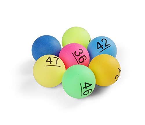 Komonee Tischtennisbälle, nummeriert, 40 mm, mit Zahlen 1-50, 50 Stück