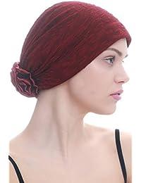 Deresina Headwear Brocado elegante gorro de invierno con rosa de raso para  pérdida de pelo  7809f3e3f5b