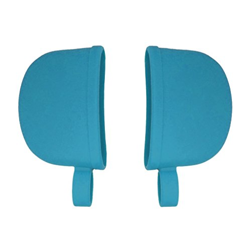 Atekuker Silicone Hot Handle Covers, Pan Handle Holders Sleeves (Blue)