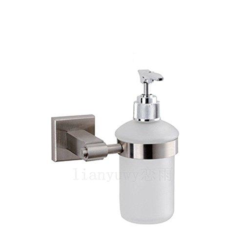 LHbox Tap 304 Edelstahl gebürstet, quadratische Basis Bad Handtuchhalter WC-Bürste, Seifenspender (Bürsten-nickel-seifenspender)