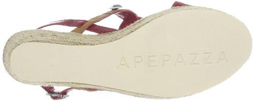 Apepazza OMBRETTA VERNICE/VACCHETTA 503415 51753, Sandali con la zeppa donna Multicolore (Mehrfarbig (ROSSO/NATURALE))