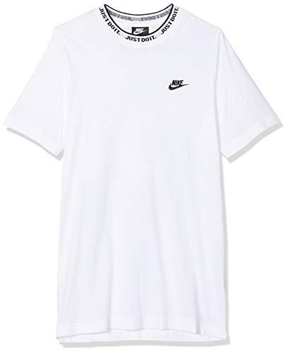 Nike Herren M NSW JDI TOP SS Knit T-Shirt, White/Black, M - Nike Graphic Knit