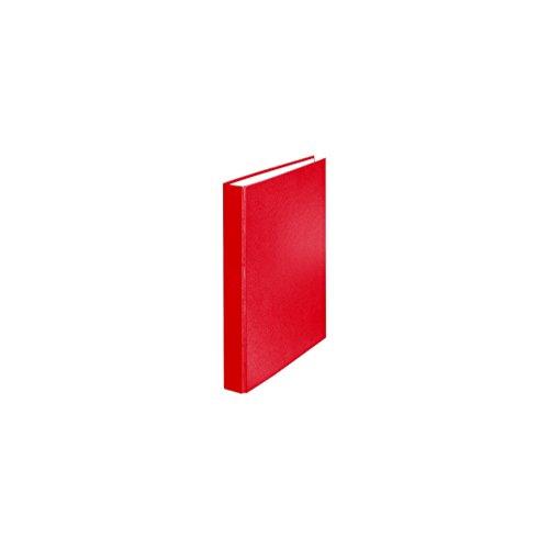 Falken PP-Color Kunststoff-Ringbuch 2 Ring-Mechanik DIN A5 Füllhöhe 25 mm rot Kalender Organizer Ring-Ordner Hefter Plastikordner