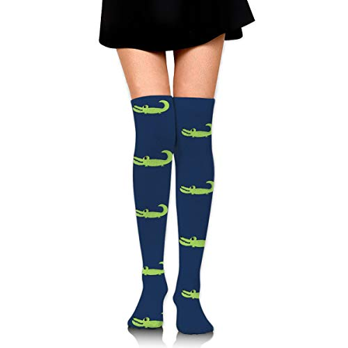 Knee High Socks Alligators In Line 23.6 Inchs(60cm) Compression Sock Stockings For Women/Girls -