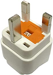 محول كهربائي بـ 3 دبابيس لمقابس الكهرباء السعودية والاماراتية والبريطانية لتناسب الاجهزة الكهربائية الامريكية