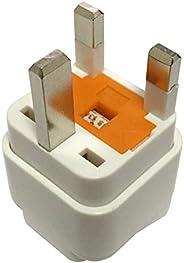 Travel Adapter for KSA/UAE/UK, Plug for US/EU/DE/IT/JP/Swiss/India Electronic Appliance Adapt to KSA/Saudi/UK