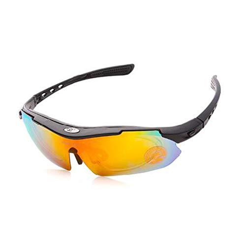 HGA Skibrille Einen.Kreislauf.Durchmachenglas Bike Outdoor Sport Fahrrad-Sonnenbrille 5 Gruppen Von Linsen Brillen Myopie Rahmen Polarisiertem Licht,C