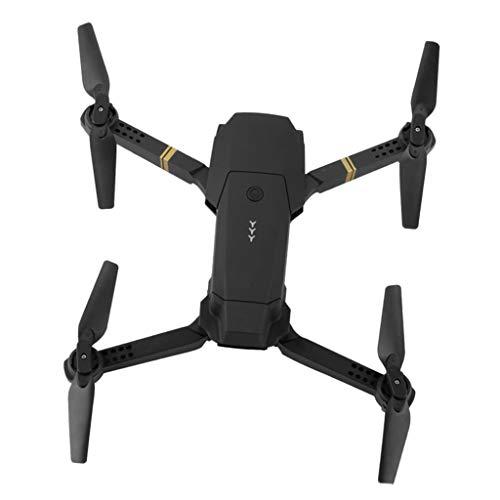 P Prettyia Telecamera WiFi Pieghevole RC Drone HD 720 / 1080P Quadricottero Grandangolare Telecomando, modalità Senza Testa, Rotazione A 360 ° - 1080P