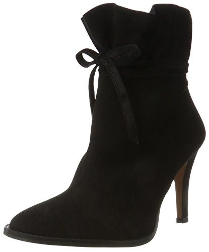 Hudson London Damen Sheena Stiefel, Schwarz (Black), 40 EU - Black Suede Slouch Boots