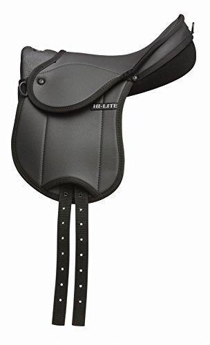 hi-lite-bambino-kinder-erste-sattel-pferd-equestrian-reiten-tack-schwarz-schwarz
