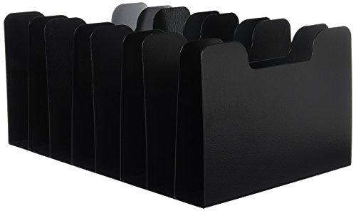 Sandusky Buddy 0580–4Produkte Classic Vertikale Trenner, 8fach, Stahl, 27,3cm x 18,4cm x 40cm, schwarz (Brief Buchstützen)