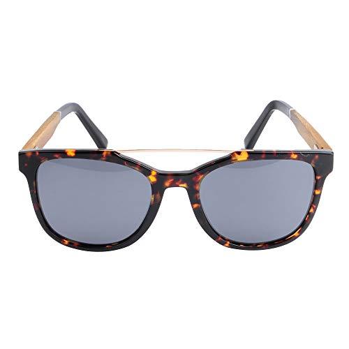 DelongKe Herren Sonnenbrille Verspiegelt Rund,Klassisch Oval Vintage Half Rim Metallgläser Polarisiert Und Antireflexion Sorgen Für 100% Igen Schutz Vor UV-Strahlen,Twilight