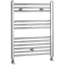 500 X 750 straight chrome heated towel rail