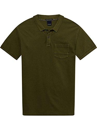 Scotch & Soda Herren Poloshirt Ams Blauw Garment Dyed Polo with Xxx Pocket Grün (Military Green 0J)