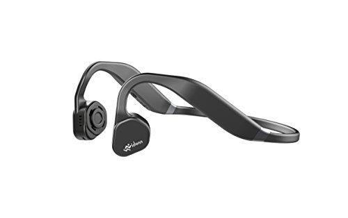 Vidonn f1 titanium wireless bone conduction headphones - cuffie audio bluetooth a conduzione ossea con microfono per attività sportiva, grigio scuro