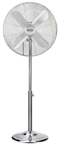 Argoclima Palladium, ventilatore a piantana in metallo cromato da 40 cm e 50 W