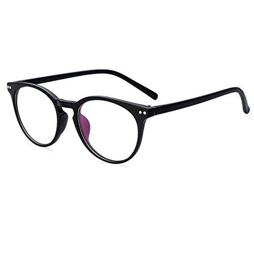 Lidahaotin Unisex Retro runde freie Objektiv-Glas-Brillen Frauen Männer UV400 Schutz Plain Brillen Brillen