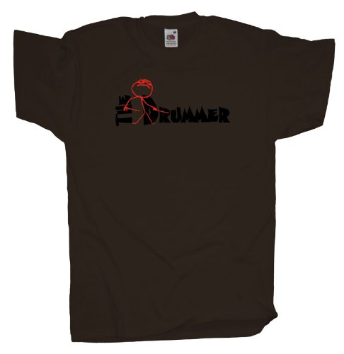 Ma2ca - The Drummer Schlagzeuger - T-Shirt Chocolate
