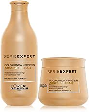 L'Oréal Professionnel Serie Expert Absolut Repair Shampoo + Masque Combo Pack| for Dry and Damaged Hair| P
