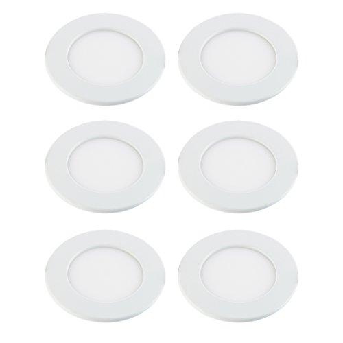 SEBSON-6x-LED-Panel-Light-redondo-6W-Calido-Blanca-3000K-115x32mm-Luz-de-Techo