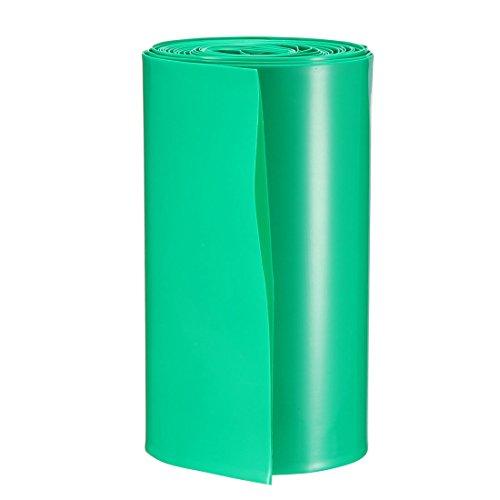 sourcing map PVC tube 103mm 2x18650 vert 5M Film rétractable