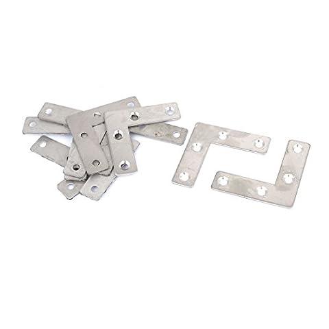 50mmx50mm Flach L Form Ecke Befestigen Reparaturplatte rechtwinklig Halterx