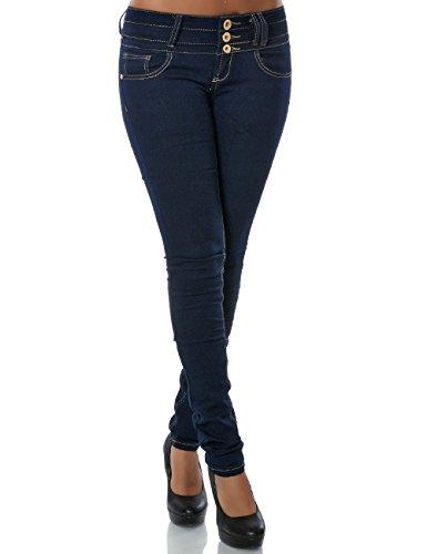 Damen Jeans Hose Skinny (Röhre weitere Farben) No 14084, Farbe:Blau;Größe:36 / S