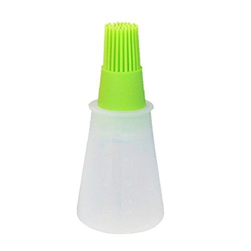 Silikon-Pinsel mit Öl-Flasche für Grill Basting, 1 PC Flexible haltbare hitzebeständige Flasche mit Pinsel für Outdoor Barbecue Backe Kochen, Suitble für Home Restaurant (zufällige Farbe) - Pinsel Flexible