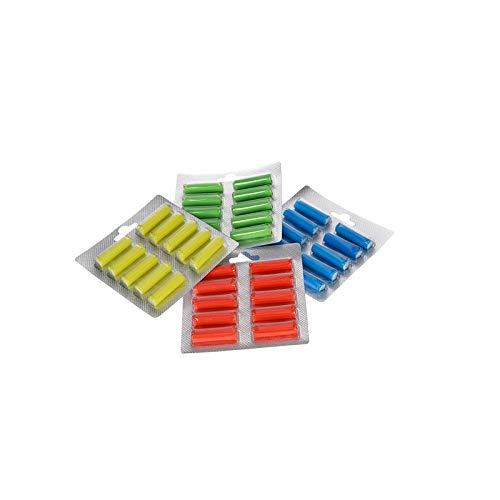 40 Duftstäbchen für Staubsauger Grün - Spring Flavour, Gelb - Tropical Lemon, Blau - Meeresbrise Blau, Rot - San Tropez