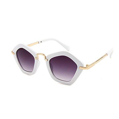 Minzhi Polygonal Kinder Sonnenbrillen f¨¹r Kinder Jungen M?dchen AC Objektiv Sonnenbrillen Kunststoffrahmen UV 400 Sonnenschutz Baby-Brillen