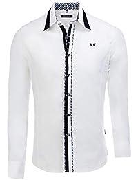 Carisma Herren Hemd 8245 Streetfashion Streetwear Casual Menswear Slimfit  Langarm d0d73b4cc9