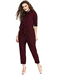 Uptownie Lite Women's Crepe Roll Up Jumpsuit