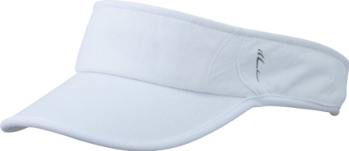 Myrtle Beach Uni Cap Running Sunvisor, white/white, One size, MB6545 whwh Tennis Hat