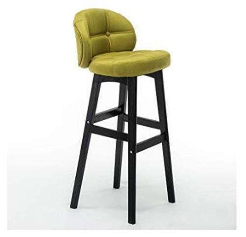 Sedia, bar legno sedile alti sgabelli cucina colazione pranzo con cuoio cuscini schienale semplice colazione pianale da cucina e home-b, 40cm * 43cm * 68cm