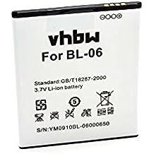 vhbw Li-Ion batería 2250mAh (3.7V) para teléfono móvil Smartphone THL T6, T6 Pro, T6c, T6s por BL-06.