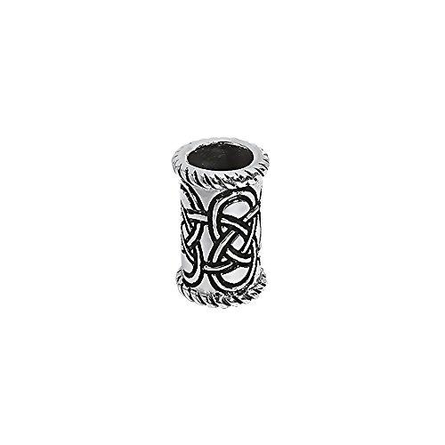 NKlaus 925 STERLING SILBER Keltische Gothic Bartperle und Haarschmuck lang 7122 (Gothic Sterling Silber)