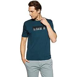 Levi's Men's Printed Regular Fit T-Shirt (38719-0011_Blue_L)