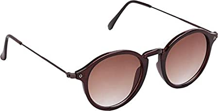 Xforia poloroid stylish round sunglasses for men & women (DX-FLX- 239 | brown | 54 MM)
