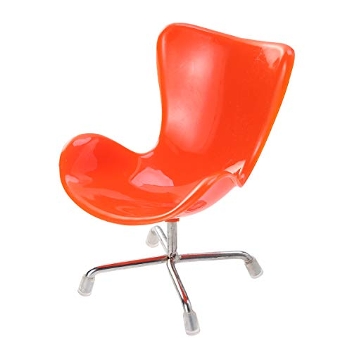 POPETPOP Egg Chair Sessel Rückenlehne Swivel Spielzeug für Puppen 1: 6 Barbies Dollhouse Miniaturen Möbel (Orange)