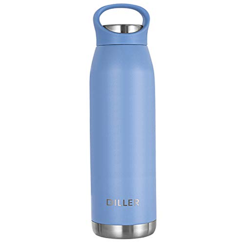 KelaSip Vacuum Flask Insulated Double Wall Stainless Steel Water Bottle-650ml Cola Bottle Shape for Cold and Warm Drinks, BPA Free Sports Bottle for Children&Adult