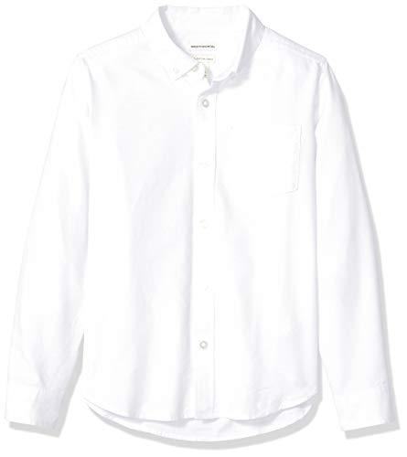 Amazon Essentials, camicia Oxford a maniche lunghe, da ragazzo, Infradito colorati estivi, con finte perline, US M (EU 128 CM, H)