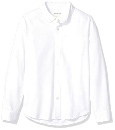 Amazon Essentials - Camisa manga larga hecha tela
